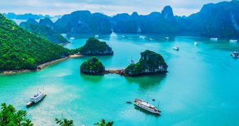 Bird's view of Halong Bay Vietnam