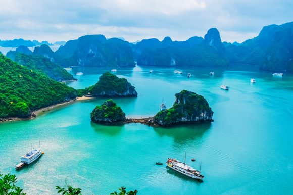 Landscape of Halong Bay Vietnam