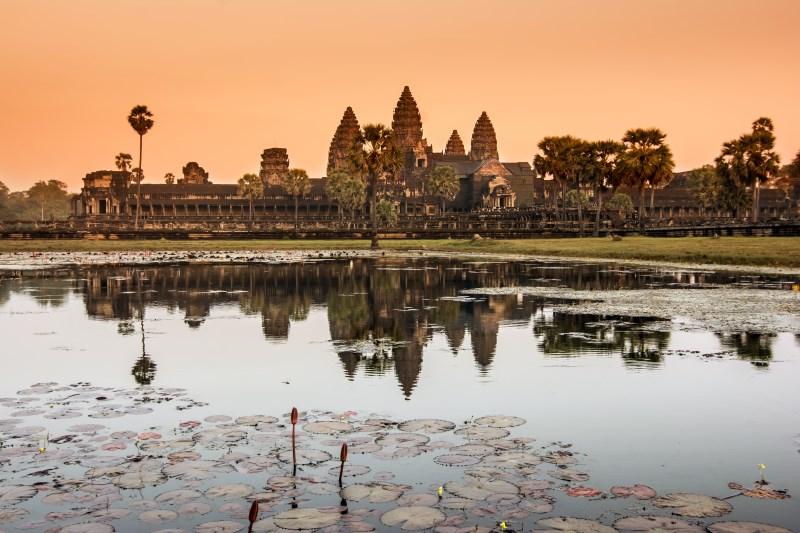 Southgate of Angkor Thom City, Cambodia