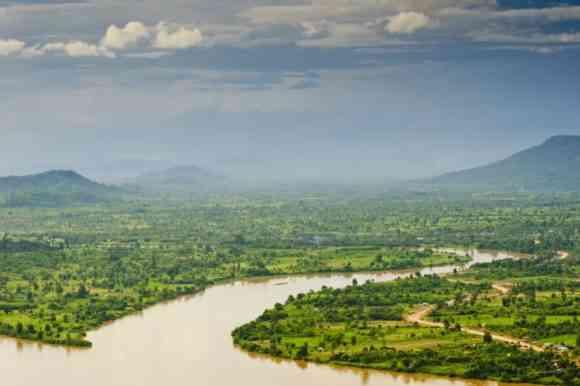 Mekong river between Laos and Thailand