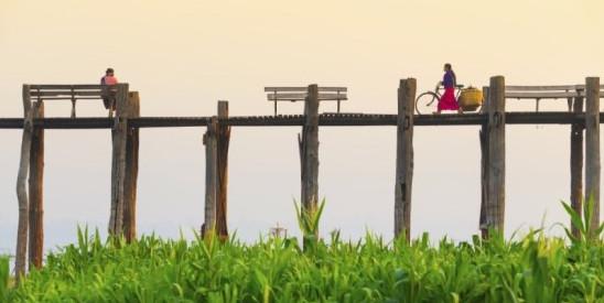 Teakwood bridge Amarapura, Myanmar