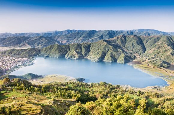 Phewa lake view from Sarangkot, Nepal