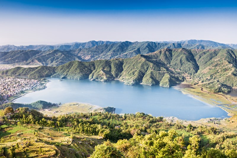 Phewa lake view from Sarangkot, Nepal