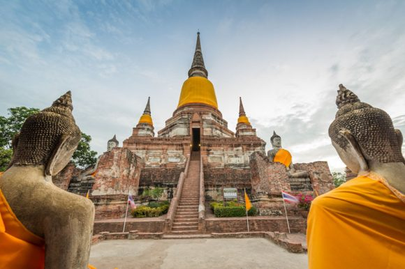 Ancient Buddhist Temple in Ayutthaya, Thailand.