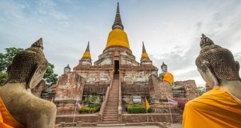 Ancient Temple in Ayutthaya, northern Thailand tour